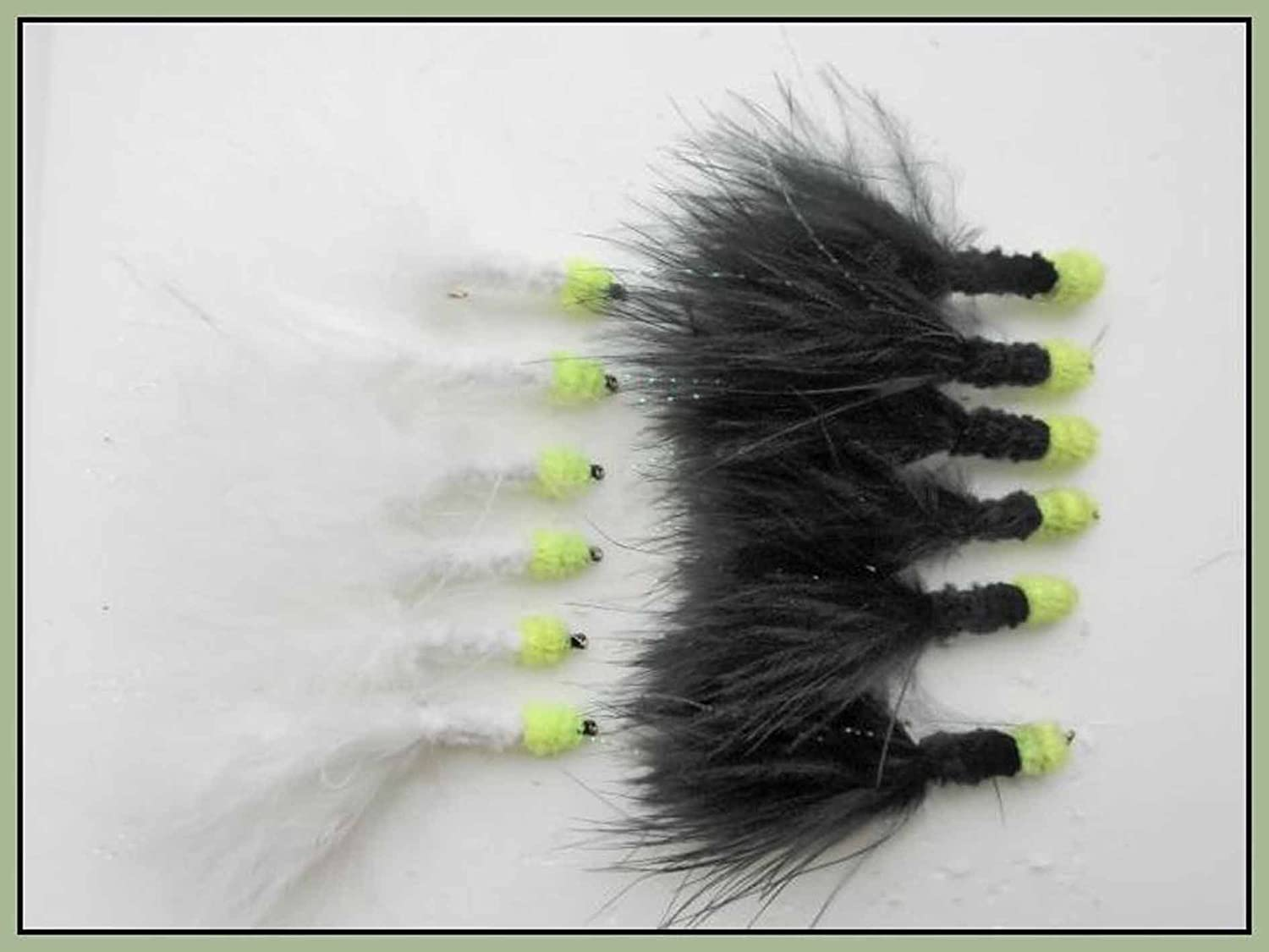 Size 10 Lures Tadpoles 6 Pack Black Green Thorax Tadpole Trout Flies