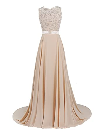 Kleid spitze champagner