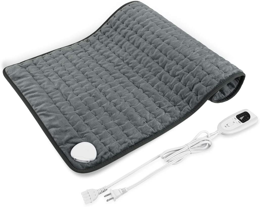 "New 12"" x 24"" Heating Pad, Electric Heating Pad for Moist & Dry Heat, 6 Electric Temperature Options, 4 Temperature Settings-Auto Shut Off -Machine Washable"