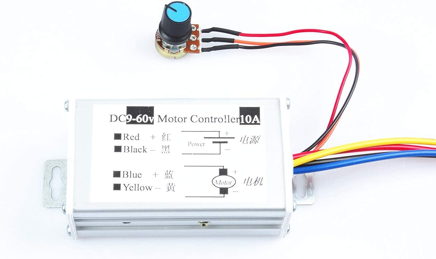 FGBORP WM Motor Speed Controller 10A DC 9V-60V 12V 24V 36V 48V Brush Motor Controller