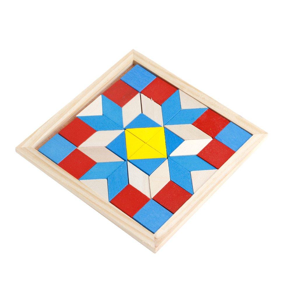 Dabixx Puzzle, Tangram in legno Developmental Rompicapo Puzzle Tetris Gioco bambini Baby Toy