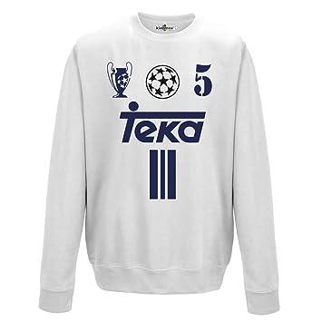 KiarenzaFD Sudadera Cuello Redondo Vintage Zidane Fútbol Madrid 5 Temporada 01 – 02 Champion Hombre,