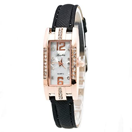 Relojes Mujer,Xinan Reloj de Pulsera Cuarzo de las Mujeres Moda (Negro)