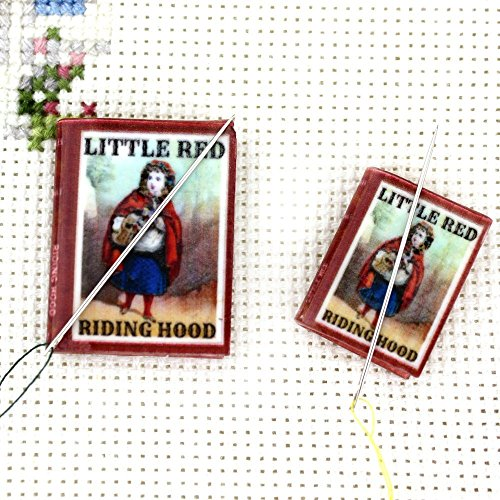 [LITTLE RED RIDING HOOD Grimm's Fairy Tales Magnetic Clay Mini Book Needle Minder by Book Beads Sewing Notions Embroidery Gadget] (Quick Halloween Costume Ideas For Boys)