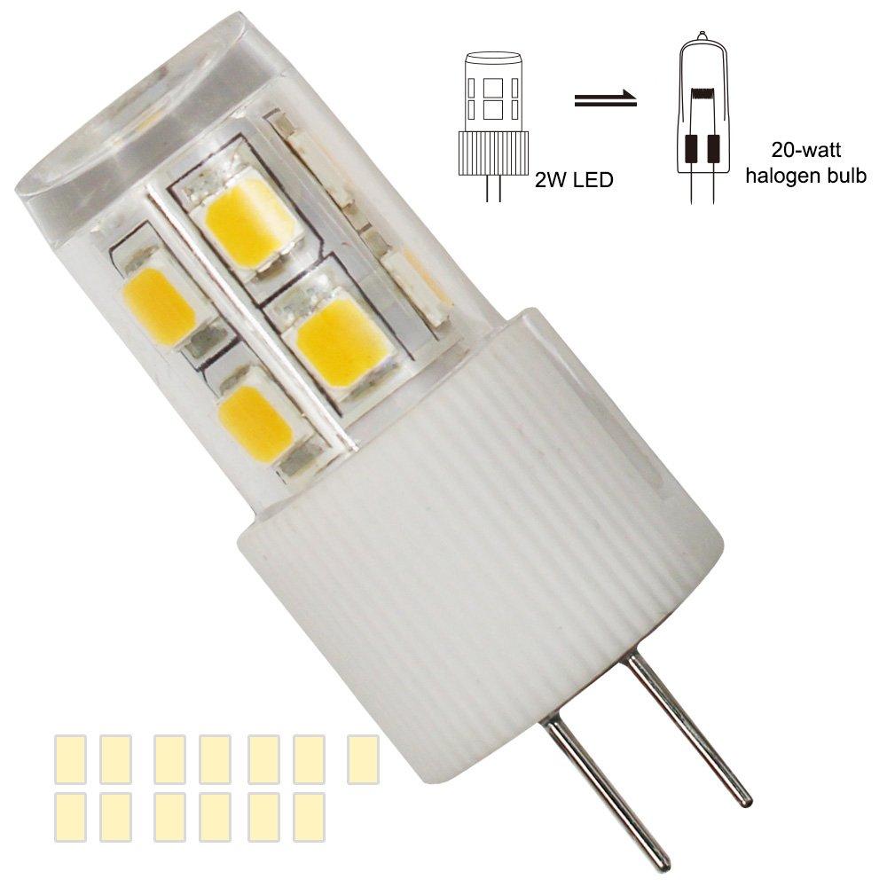 3-Pack 2W G4 LED Light Bulb, 20W Halogen Bulb Equivalent, AC/DC 12V ...