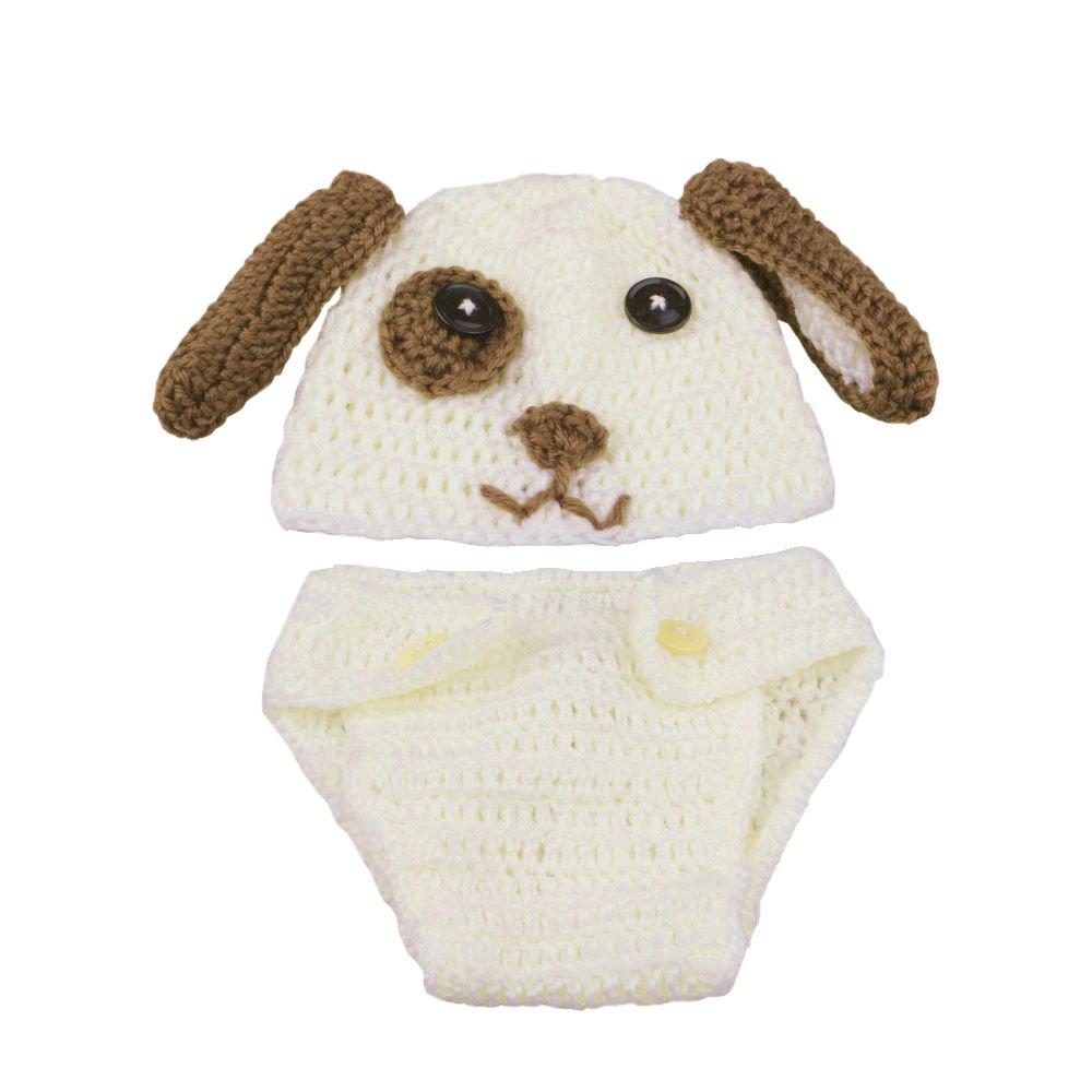 Hund Hut Windel AKAAYUKO Neugeborenes Baby Handgefertigt H/äkelware Fotografie Kost/üm