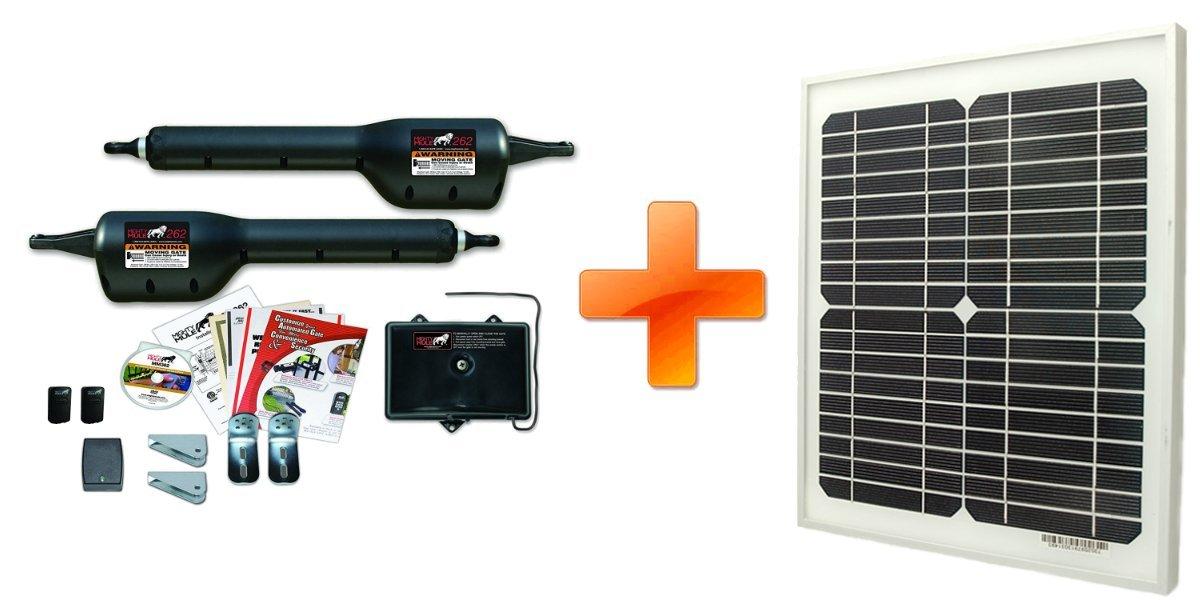 Mighty Mule MM262 Solar Package - Dual Gate Opener w/ 10 Watt Solar Panel
