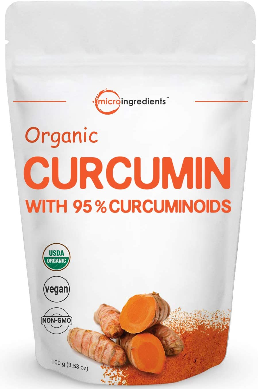 Maximum Strength Organic Curcumin Powder Natural Turmeric Extract and Turmeric Supplement