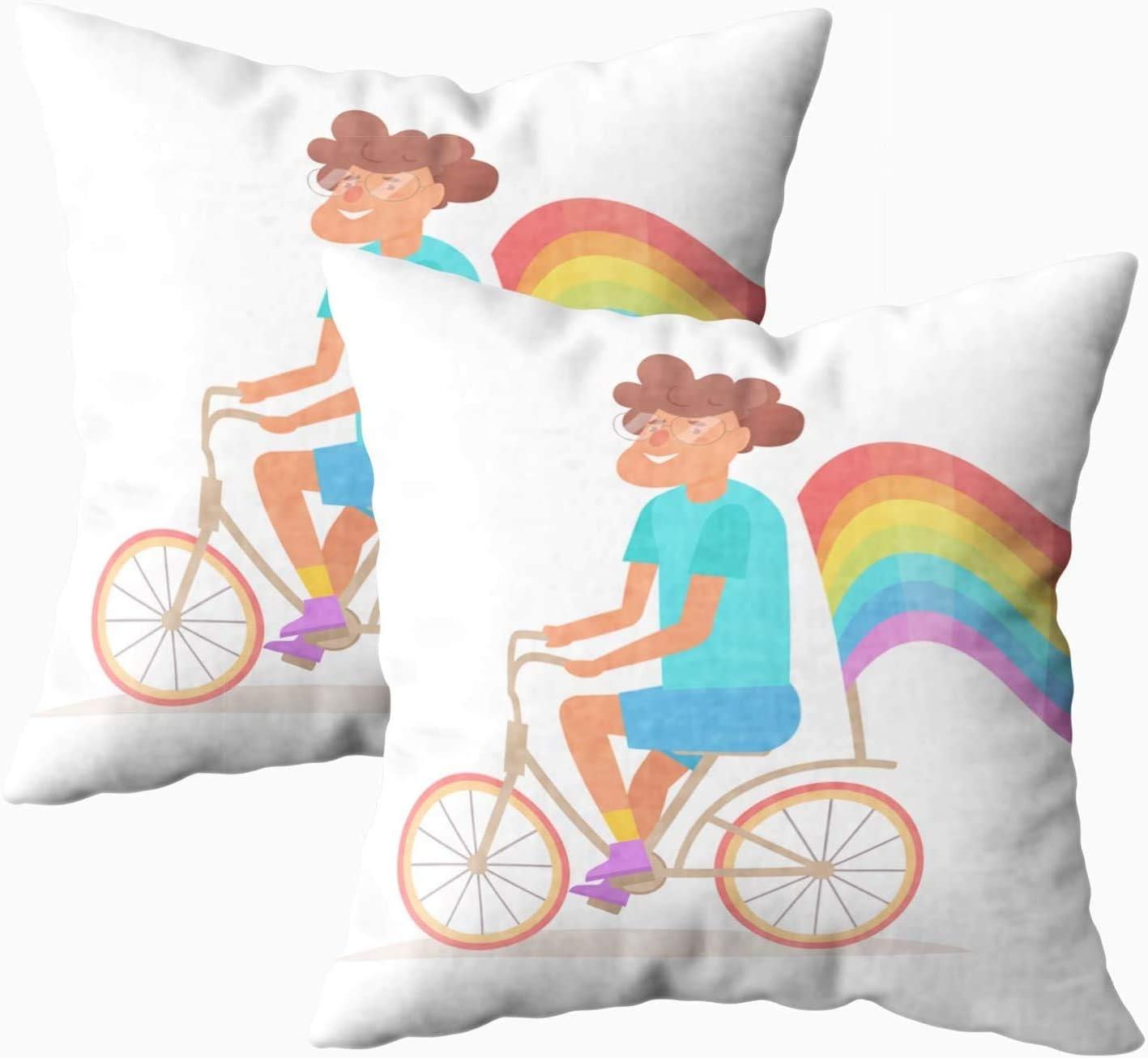 Fundas de almohada para cama, diseño de hombre gay con bandera del arco iris, 45 x 45 cm, fundas de almohada para decoración del hogar, fundas de almohada con cremallera para sofá