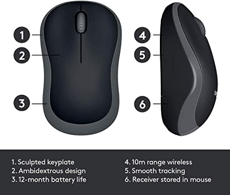 2.4 GHz with USB Mini Receiver,1000 DPI Optical Tracking,Operating System is PC//Laptop ZLSANVD M185 Wireless Computer Mouse