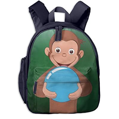 Curious George Classic Students School Bag Kids Bookbags Navy | Kids' Backpacks