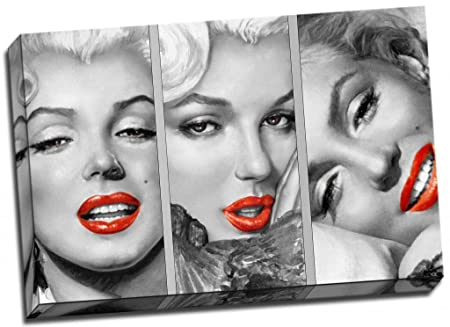 Marilyn Monroe Vintage Pop Art Canvas Print Poster 30x20 Inches A1