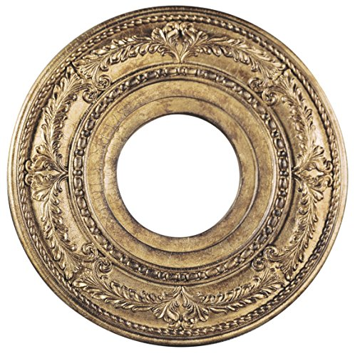 Livex Lighting 8204-65 Ceiling Medallion, Hand Painted Vintage Gold Leaf