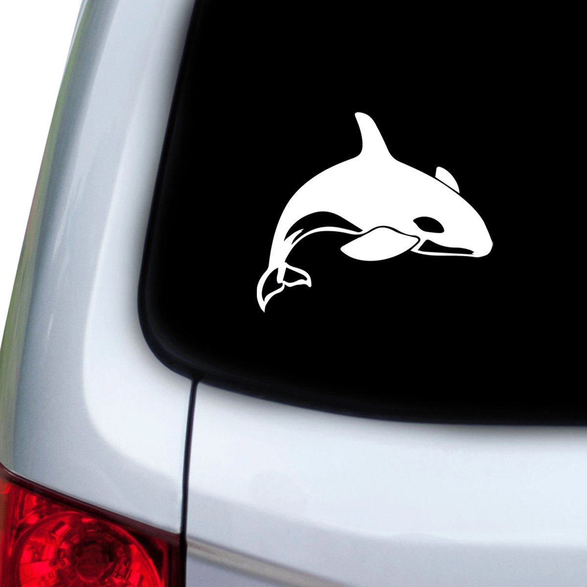 Hoods Doors White StickAny Car and Auto Decal Series Killer Whale Sticker for Windows