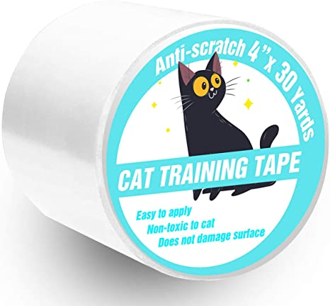 Couch. PatiencET Double sidedpe Anti Cat/Scratch/Tape 4 inches x 30 Yards Scratch Deterrent Training Tape Furniture Protector for Carpet Doors