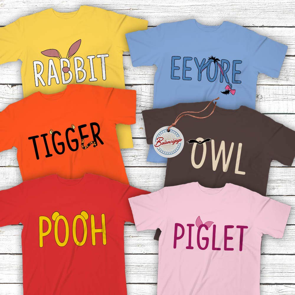 PERSONALISED if REQUIRED WINNIE THE POOH and FRIENDS KIDS T SHIRT