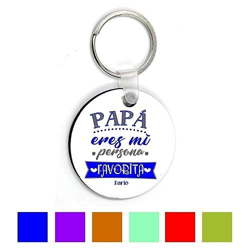 Llavero Papá/Regalo Original/Día del Padre/Texto ...