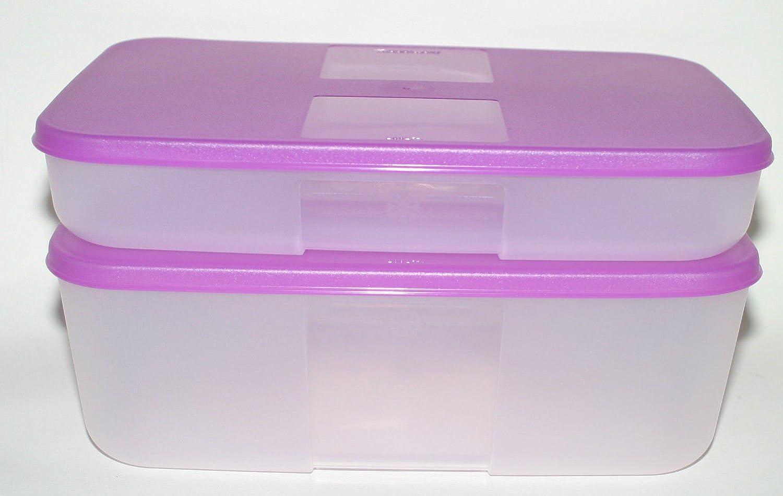 Tupperware contenedores de congelador Mates mediano Juego de 2 ...
