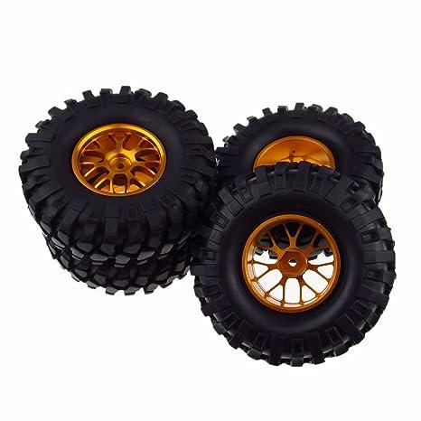 RC aluminio llantas neumáticos de caucho 108 mm para RC 1: 10 de coches Crawler