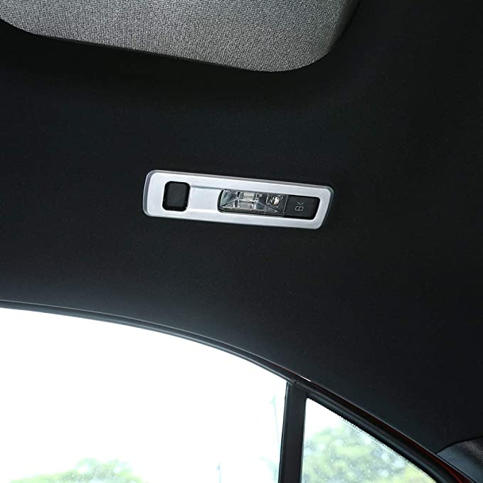 MYlnb For Mercedes Benz A Class W177 2019,2pcs Car Matte Chrome ABS Rear Reading Lamp Frame Trim Accessories
