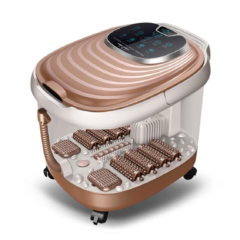 DMMSS Hogar Calentamiento automático Baño de pie de masaje Baño de pie eléctrico Baño de pie , brown: Amazon.es: Deportes y aire libre