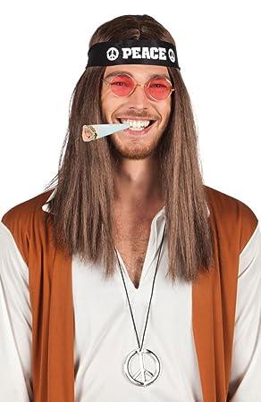Conjunto de hippie - cinta para la cabeza, las gafas, símbolo de la paz