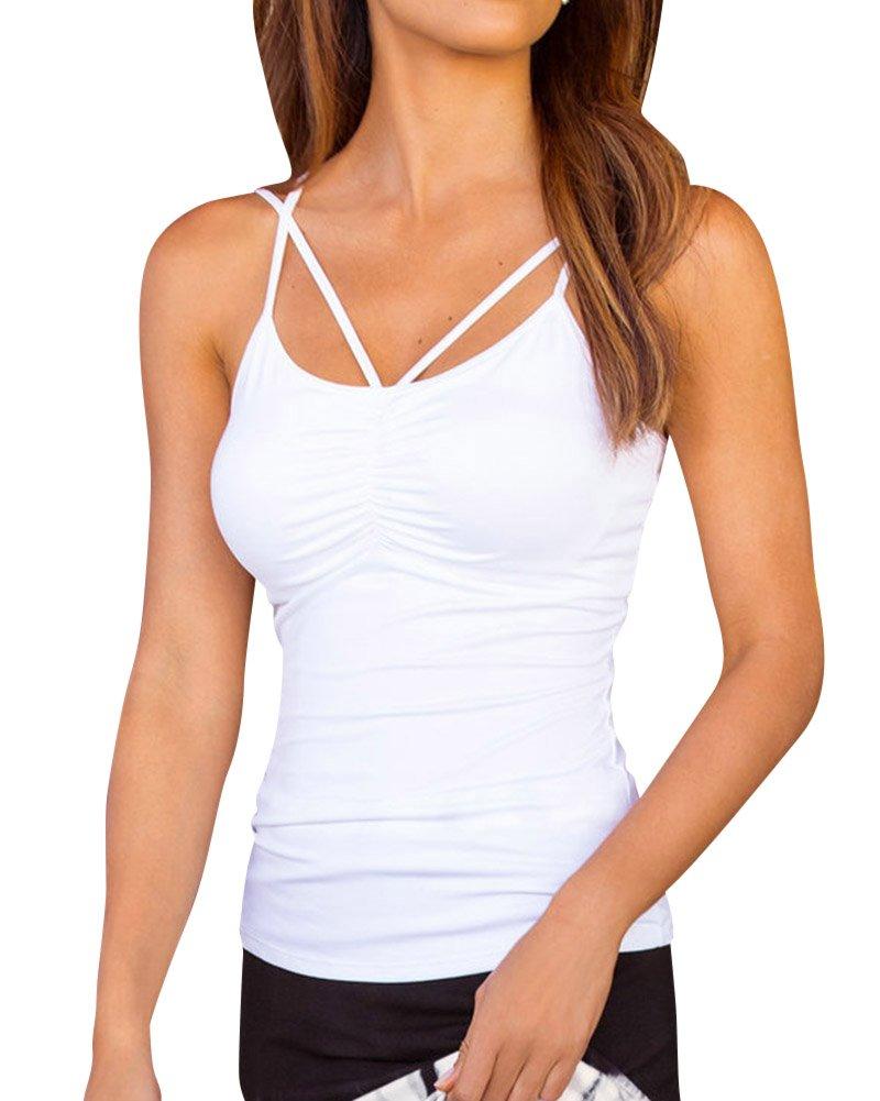 Camisetas Sin Mangas Mujer Blusas Camisas Tops Envuelta En El Pecho