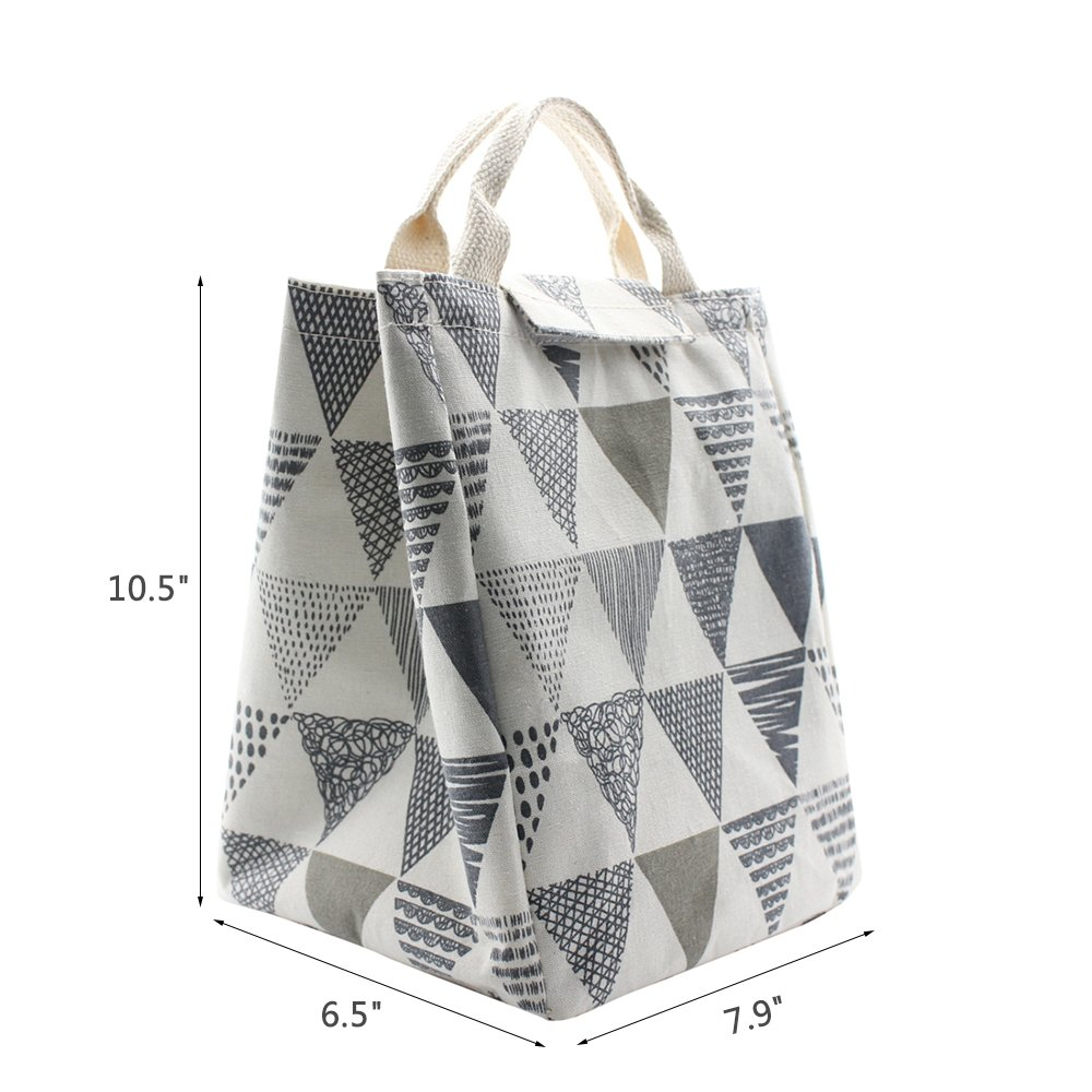 Reusable Travel Picnic Meal Prep Lunch Box Holder Cooler Bag Office Lunch Organizer Cross Mziart Cute Insulated Lunch Bags Leakproof Lunch Tote Bag for Women Men