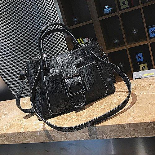 Aoligei Collision couleur seau sac fashion unique épaule oblique cross féminin sac centaines boucle à main D