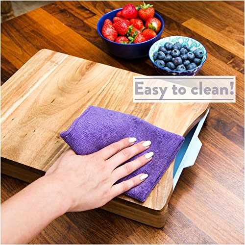 Cutting Board Organic Acacia Wood Chopping Board With 2