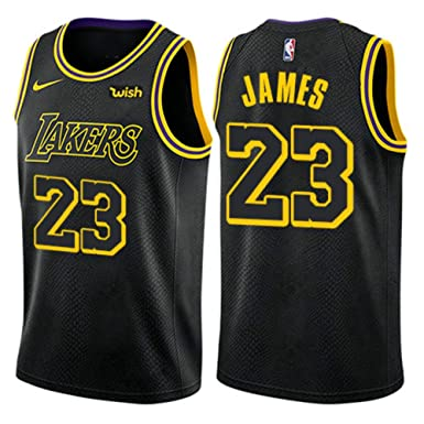 0a4caff1994 Lebron James #23 Los Angeles Lakers Cool NBA Basketball Swingman Men's  Jersey- Black (