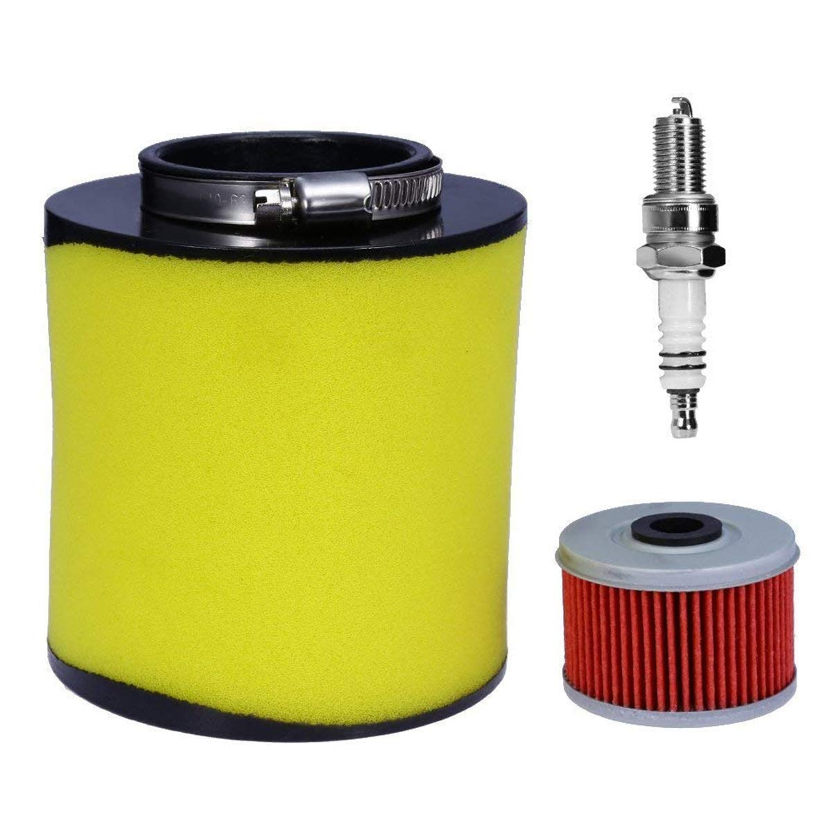 Amhousejoy Air Filter Replacement for Honda TRX350TM TRX350TE TRX350FM TRX350FE Rancher/Foreman 400 & 450 Fourtrax 300 1992-2000 Included Oil Filter & Spark Plug Haocheng Parts Co. Ltd.
