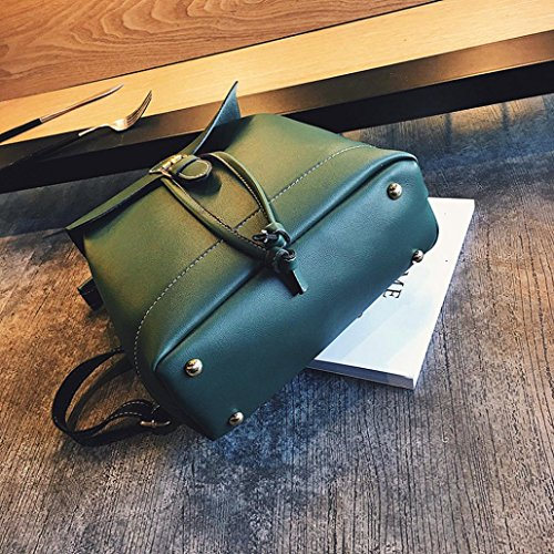 Rucksack Green Travel Backpacks Bags Backpack Women Brown Womens Leather Hiking School TUDUZ Teenagers Fashion Girls Backpack 7UwTqv