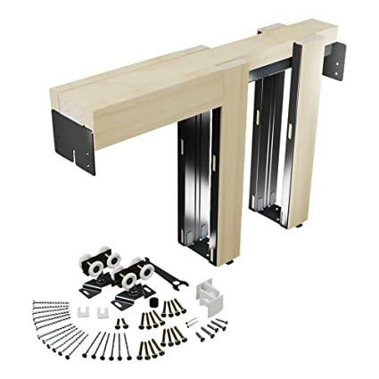 Beau Slide Co 164553 Pocket Door Kit, Steel Reinforced Wood Framing, For 24 In