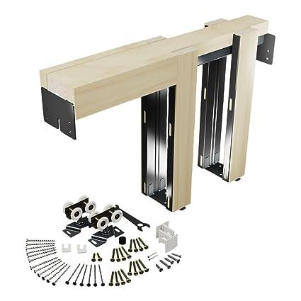 Beau Slide Co 164553 Pocket Door Kit, Steel Reinforced Wood Framing, For 24 In