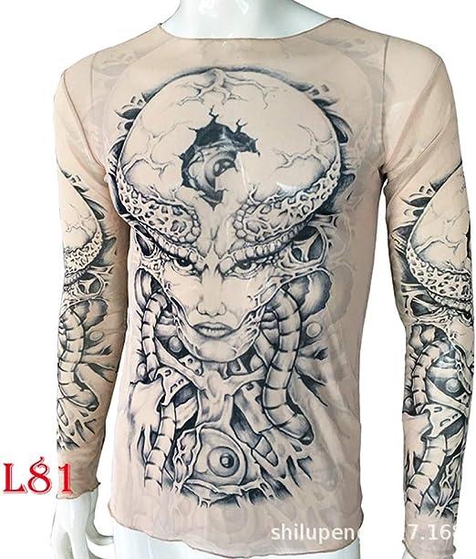 Estadounidense de Gran tamaño de Manga Larga Tatuaje Ropa Tatuaje ...