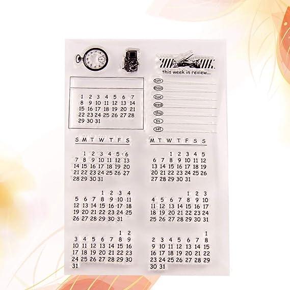SUPVOX Borre el Tema del Calendario del Sello para Las ...