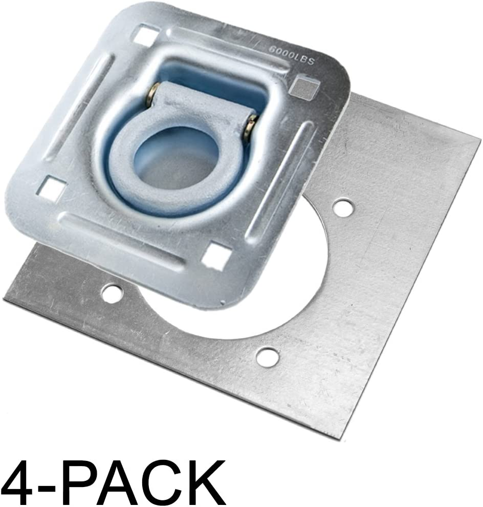 Recessed D-ring 12-Pack Backing Plate for 6,000 lb
