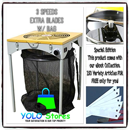 Hydroponics Leaf Trimmer Hydroponic Bud Trimming Reaper with 6 Extra Blades and Bag, 3 Speeds Pro Machine 110V By YOLO Stores by YOLO Stores
