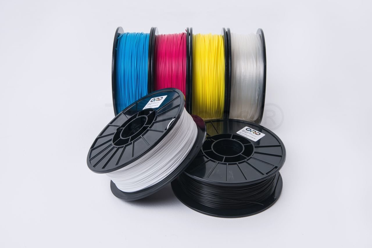 1.75mm 1kg 100/% Made in the USA 3D printer filament ORD Solutions Inc 3PFABS1KG175CYA Cyan ABS full color