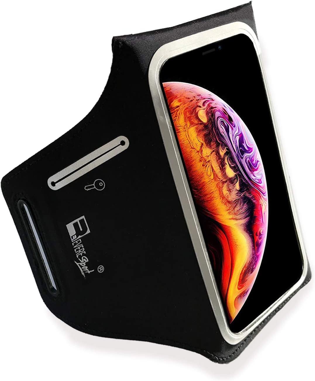 RevereSport Waterproof Running Armband for iPhone 11 Pro Max. Phone Arm Holder for Runners, Gym Workouts
