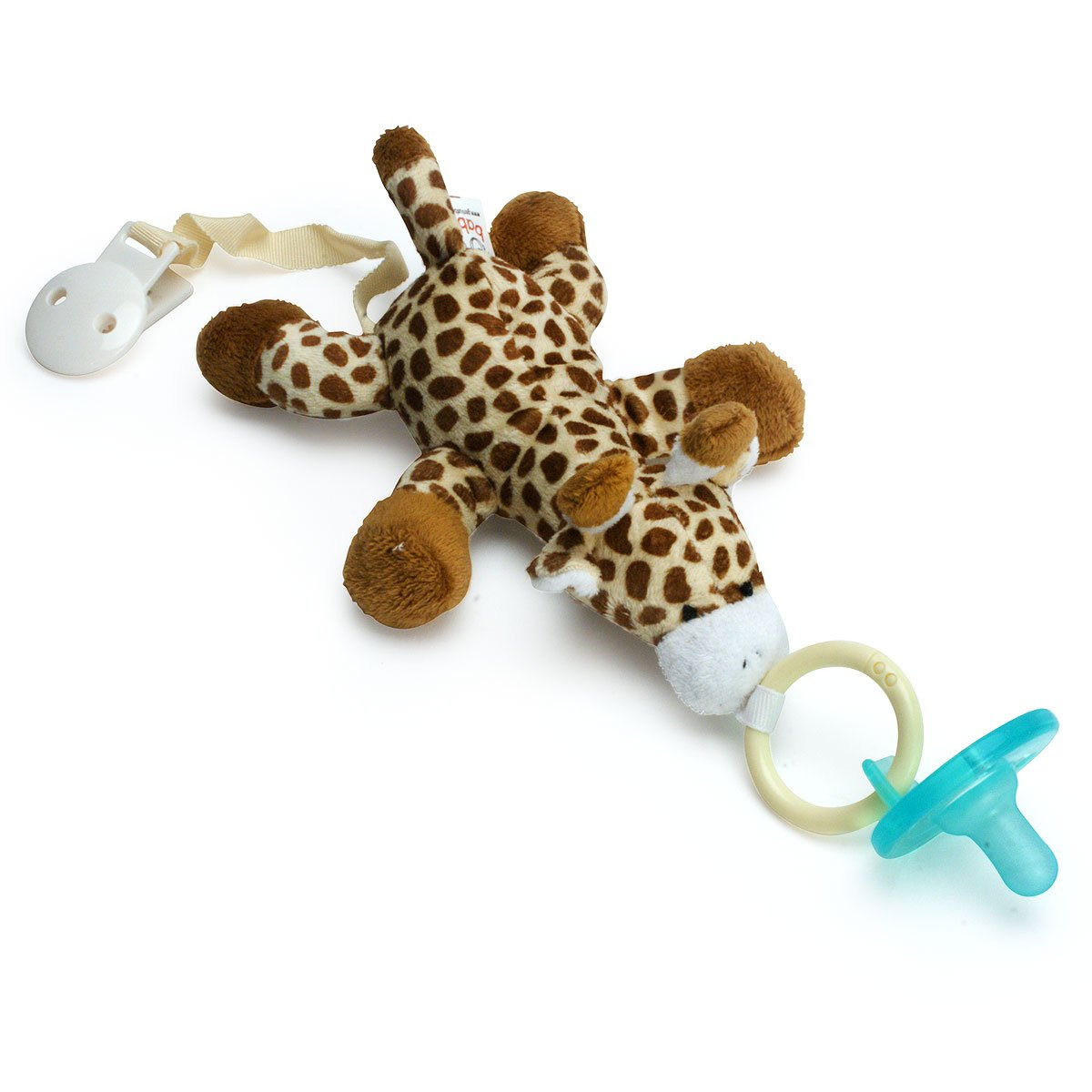 Paci-Buddy Giraffe - Plush Pacifier Holder & Clip by Genius Baby Toys   B00J1B5JY6