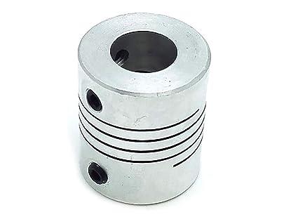 Cynken 1 Piece 10x12.7mm Aluminum Flexible Spider Shaft Coupling CNC Stepper Motor Coupler Connector OD35mm x L50mm