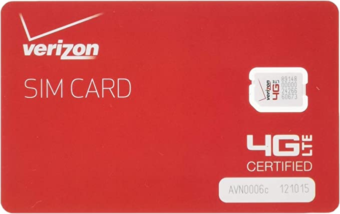 Verizon Wireless 4G LTE Nano SIM Card 4FF, Non-NFC, Only Compatible With iPhone (No Android)