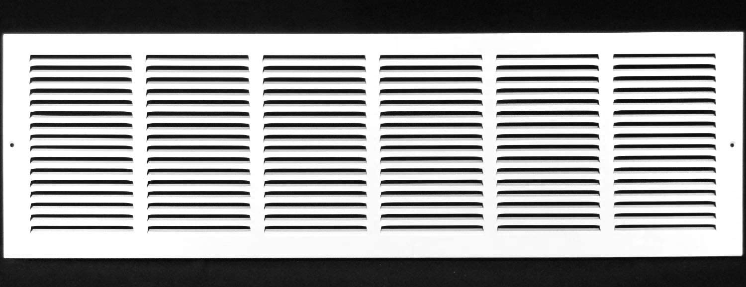 """36""""w X 12""""h Steel Return Air Grilles - Sidewall and Ceiling - HVAC Duct Cover - White [Outer Dimensions: 37.75""""w X 13.75""""h]"""