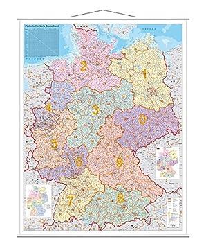 Franken Kam400 Kartentafel Plz Laminiert 1 750 000 137 X 97 Cm
