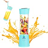 Diwenhouse Portable Blender USB Rechargeable Juicer Cup - Personal Size 16 oz Juice Glass Shakes Wireless BPA Free Blue…