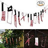 Halloween Decorations 12PCS Bloody Weapons Garland Props for Halloween Party Decor 2.4M/7.9ft