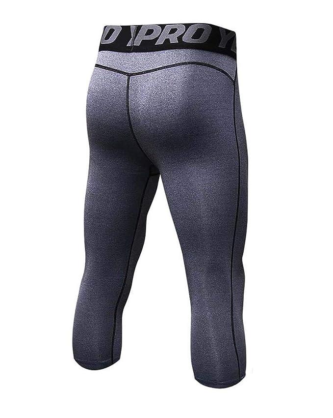 Yanlian Pantalones Mallas Deporte Termicas Compresi/ón Leggings Hombre