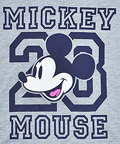 - Disney Junior T-shirt Mickey Mouse Football Athletic Jersey Stripes (Grey, XL)